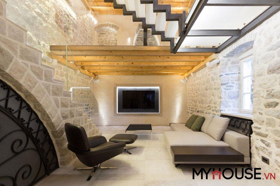 biệt thự đá cuội Ljuta nằm trong vịnh Kotor