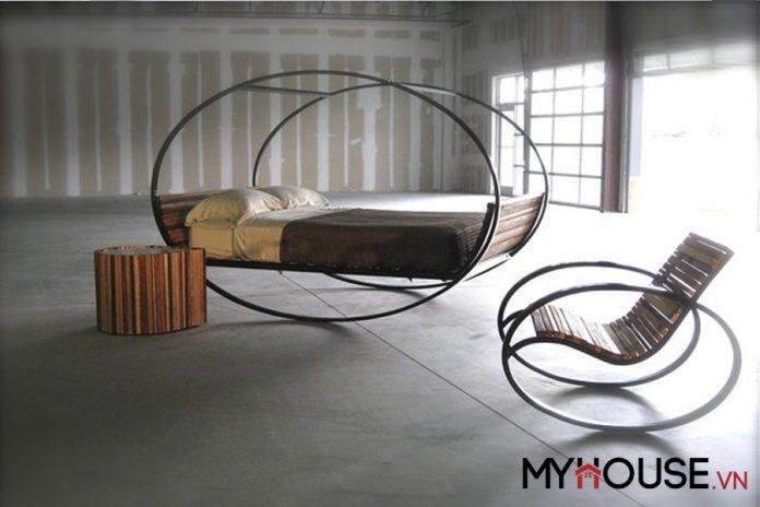 Giường độc đáo lắc lư được thiết kế bởi Joe Manus đến từ Shiner International