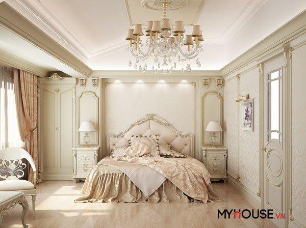 Thiết kế phòng ngủ: Lãng mạn nét cổ điển